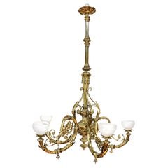 Early Victorian Ormolu Five-Branch Chandelier, Mid-19th Century