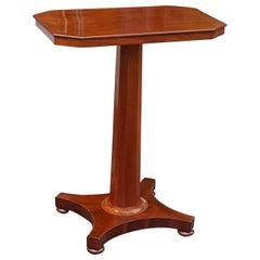 Early Victorian Rectangular Mahogany Side Table