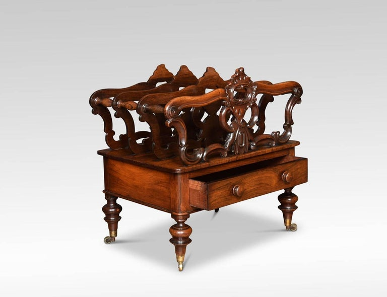 Early Victorian Rosewood Canterbury In Good Condition For Sale In Cheshire, GB