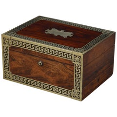 Early Victorian Rosewood Jewelry Box