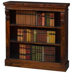 Early Victorian Rosewood Open Bookcase of Diminutive Proportions
