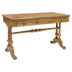Early Victorian Rosewood Writing Table by Holland and Sons