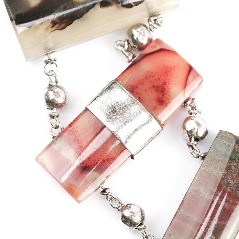 Women's Early Victorian Scottish Agate Bracelet For Sale