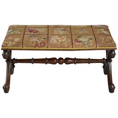 Early Victorian X-Frame Stool
