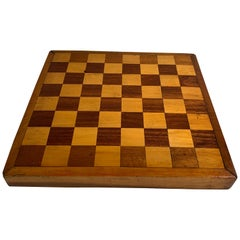 Early Vintage Chess Board Table Top