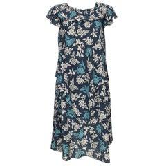 Early Vintage Sonia Rykiel Printed Cotton Gauze Dress 1960s