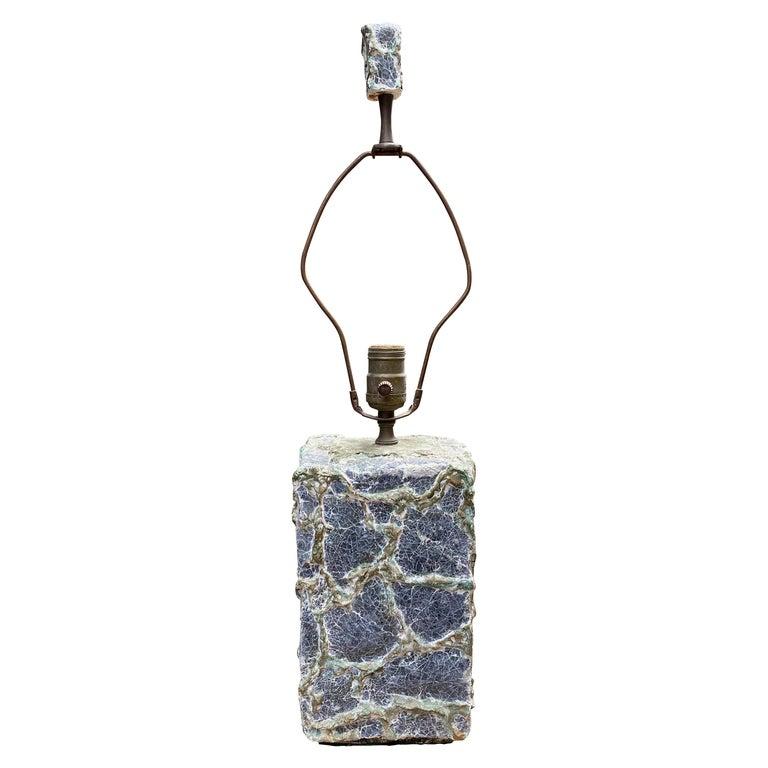 Early Volcanic Brutalist Plaster Lamp For Sale
