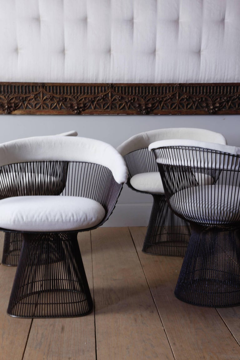 e266c980fb29 Mid-Century Modern Set of Four Early Warren Platner for Knoll Dining Chairs  For Sale