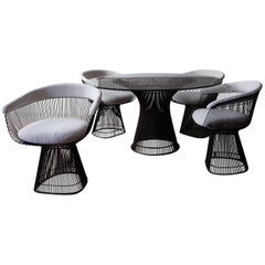 Set of Four Early Warren Platner for Knoll Dining Chairs