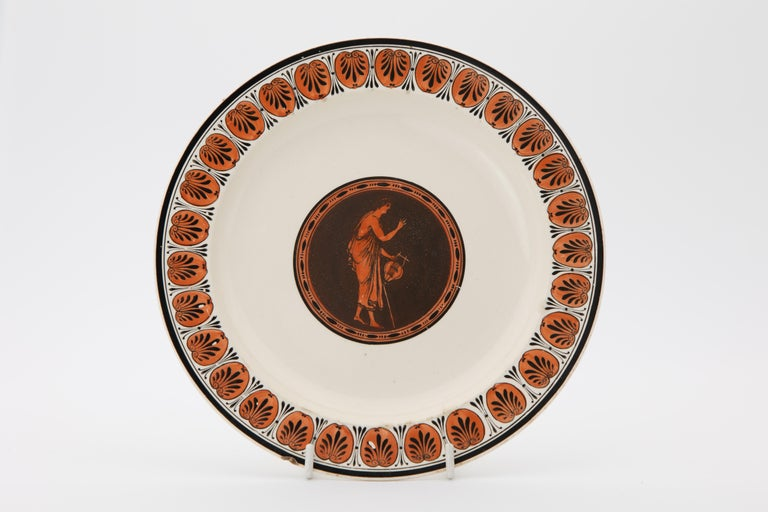 English Early Wedgwood Neoclassical Creamware Dessert Dishes Made circa 1780 For Sale