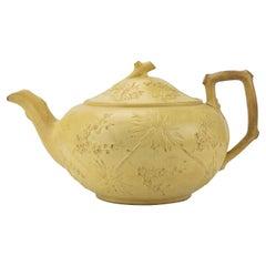 Early Wedgwood Prunus Caneware Teapot