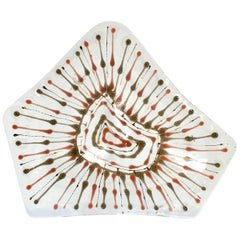 Early Wells Street Studio Rogue Fused Glass Ashtray by Higgins