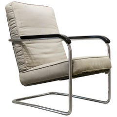 Early Werner Max Moser High Back Adjustable Armchair by Embru Werke