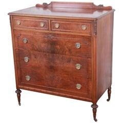 Early Widdicomb Burled Walnut Highboy Dresser, circa 1920s