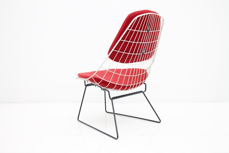 Early Wire Chair by Cees Braakman for Pastoe, 1958 In Good Condition For Sale In Frankfurt / Dreieich, DE
