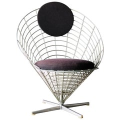 Early Wire Cone Lounge Chair by Verner Panton