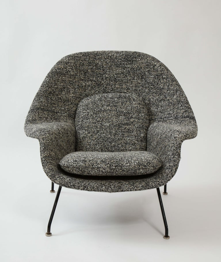 Early womb chair and ottoman, Eero Saarinen