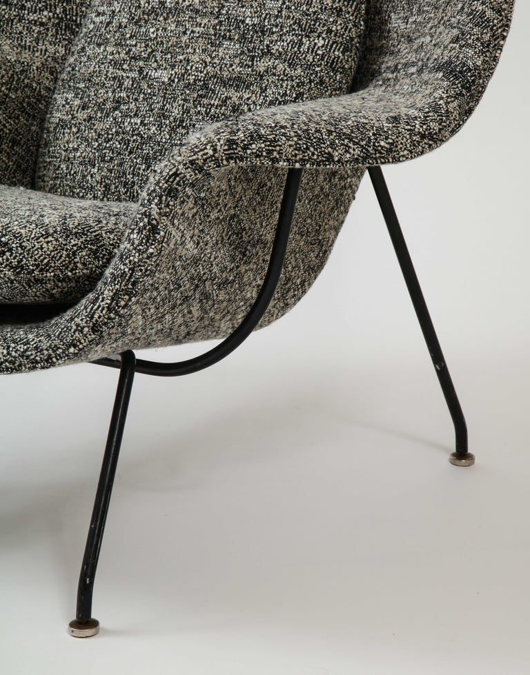 North American Early Womb Chair and Ottoman, Eero Saarinen For Sale