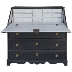 Early Writing Desk in Black Paint