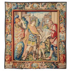 """Early XVIIth Century Tapestry """"Allegory of the Architect""""  Wool and Silk"""