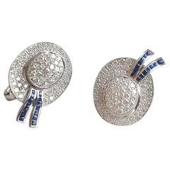 Goshwara Sapphire And Dimaond Earrings