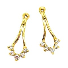 Earring Jackets, Diamond .40 Carat