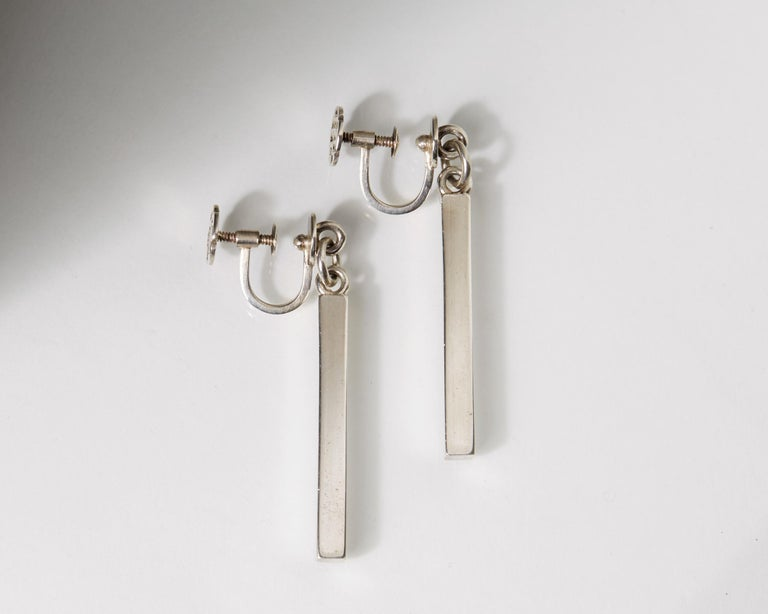 Modern Earrings Designed by Wiwen Nilsson for Anders Nilsson, Sweden, 1950 For Sale