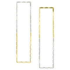 Earrings Long Light Box Chain Rectangular Sterling Silver Mixed Greek Earrings