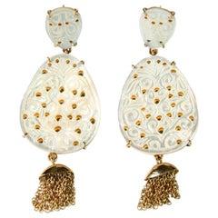 Earrings Mother of Pearl 18 Karat Gold