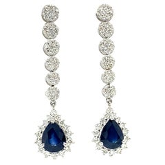 Earrings with 4.63 Carats of Sapphires