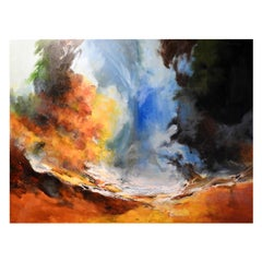 """""""Earth & Air"""" Natural Atmosphere, Contemporary Oil Painting"""