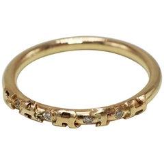 White Diamond Earth Amazon Rainforest Ring  Bronze J Dauphin