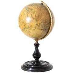 Earth Globe, Kiepert, Berlin, Late 19th Century