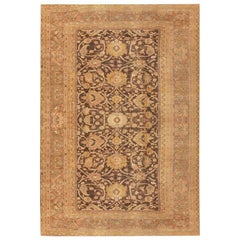 Earth Tone Oversized Antique Persian Sultanabad Rug. Size: 12 ft x 21 ft 8 in
