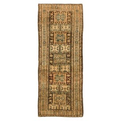"Earth Tone Tribal Antique Persian Malayer Runner Rug. Size: 3' 9"" x 9' 7"""