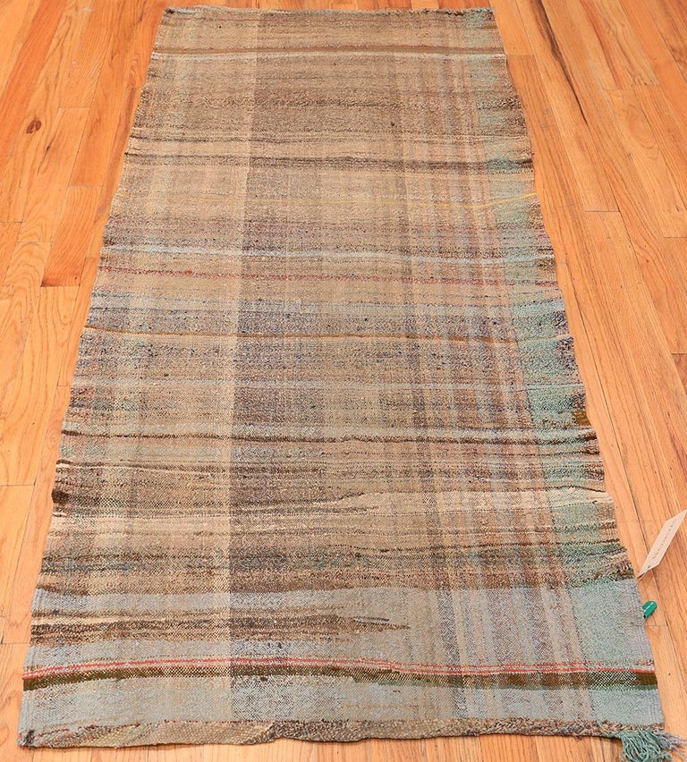 20th Century Earth Tone Vintage Persian Kilim Runner Rug. Size: 3 ft 3 in x 7 ft 2 in For Sale