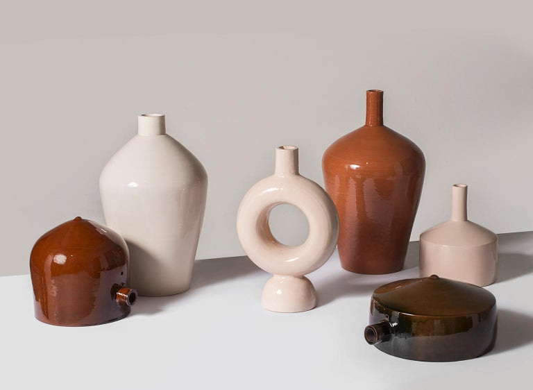 Earth-Toned Abba Collection of Ceramic Vases Celebrates Ancient Water Urns For Sale 5