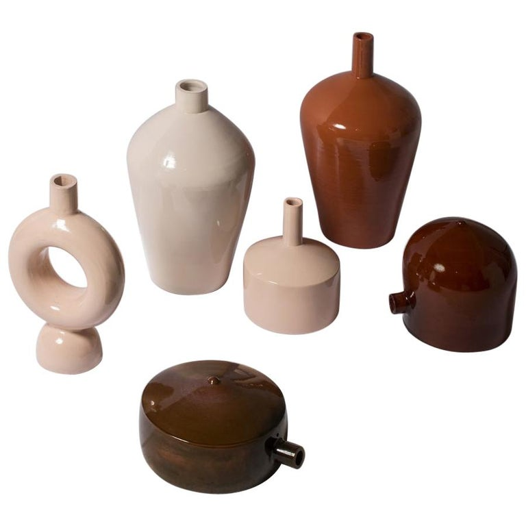 Earth-Toned Abba Collection of Ceramic Vases Celebrates Ancient Water Urns For Sale