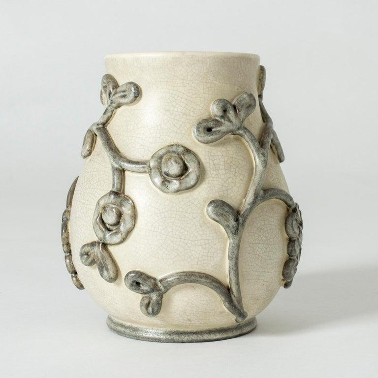 Scandinavian Modern Earthenware Vase by Eva Janke-Björk for Bo Fajans, Sweden For Sale