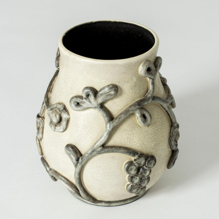 Swedish Earthenware Vase by Eva Janke-Björk for Bo Fajans, Sweden For Sale