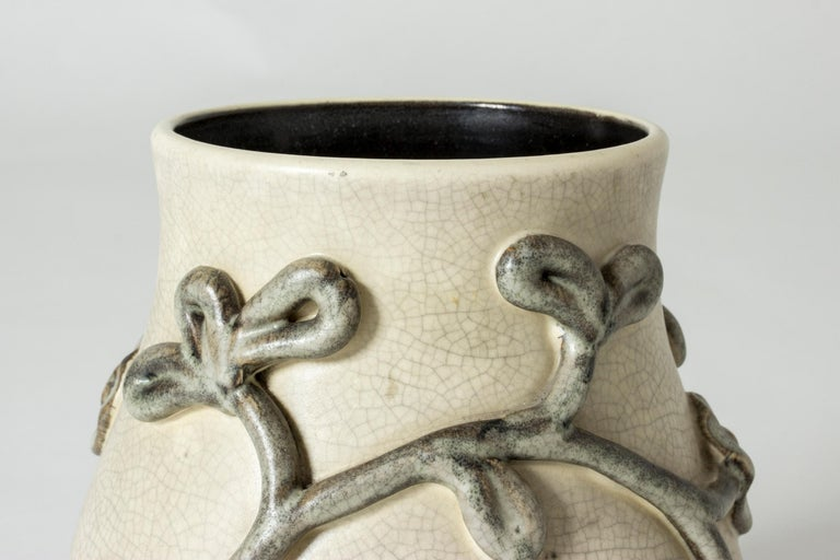Earthenware Vase by Eva Janke-Björk for Bo Fajans, Sweden In Good Condition For Sale In Stockholm, SE