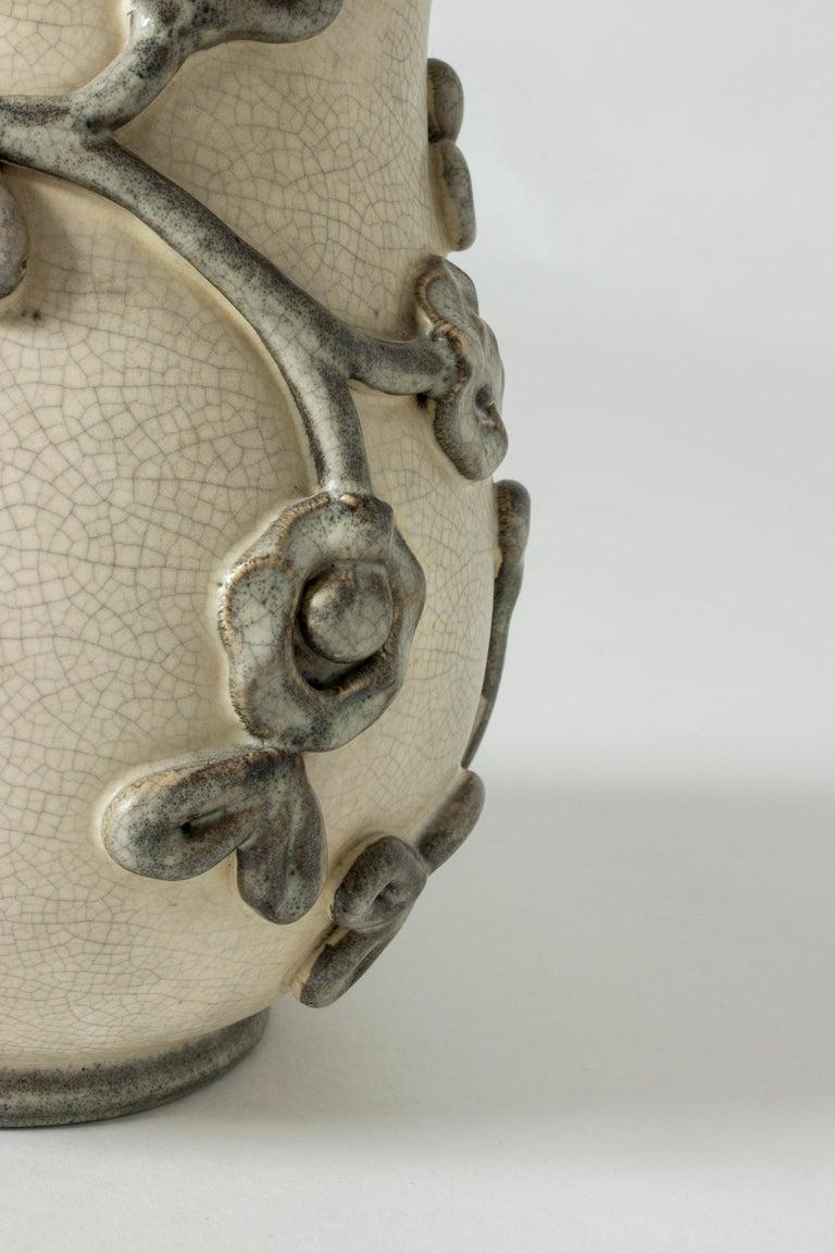 Mid-20th Century Earthenware Vase by Eva Janke-Björk for Bo Fajans, Sweden For Sale