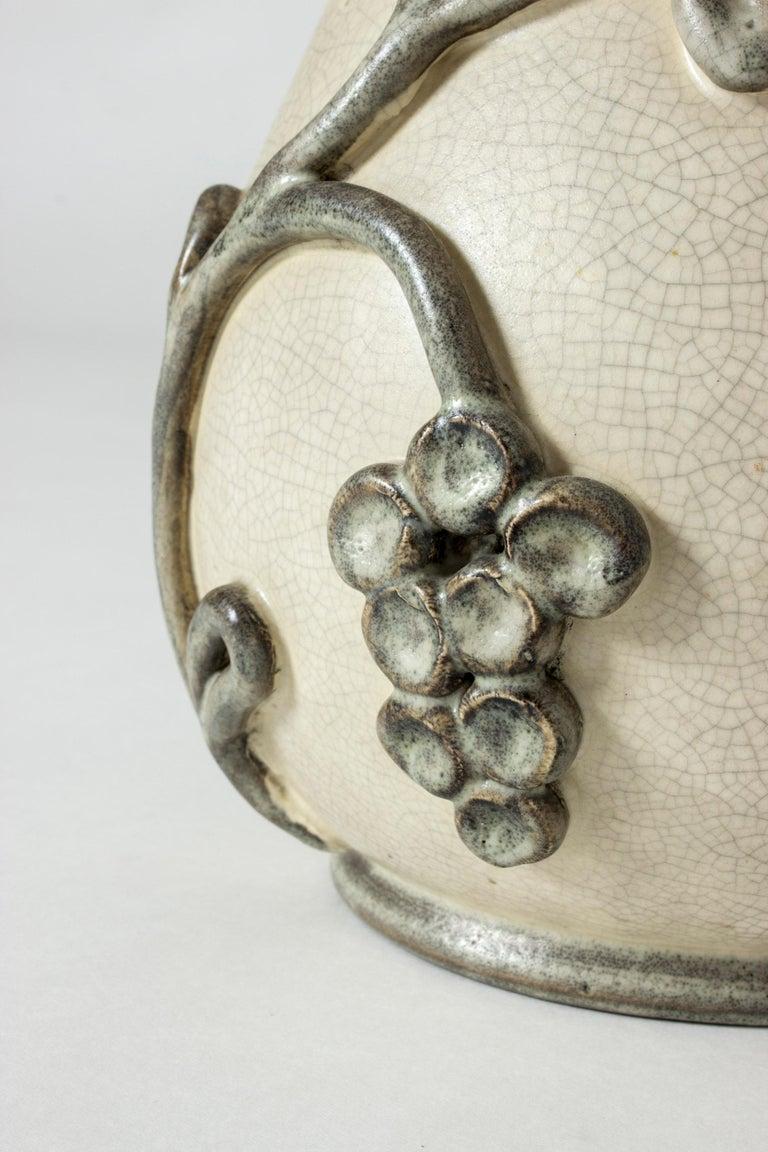 Stoneware Earthenware Vase by Eva Janke-Björk for Bo Fajans, Sweden For Sale