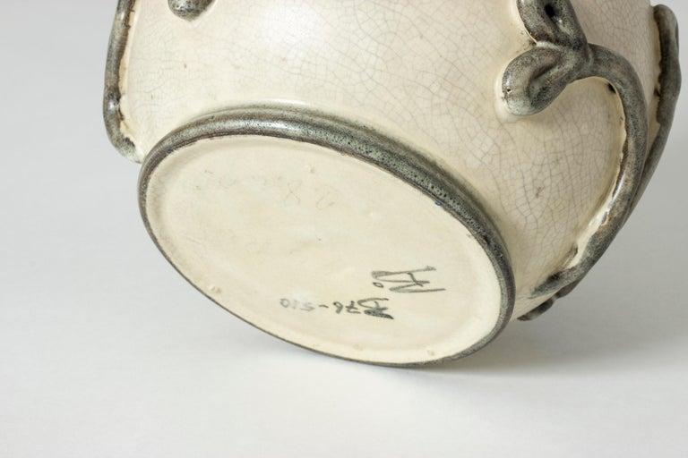 Earthenware Vase by Eva Janke-Björk for Bo Fajans, Sweden For Sale 1
