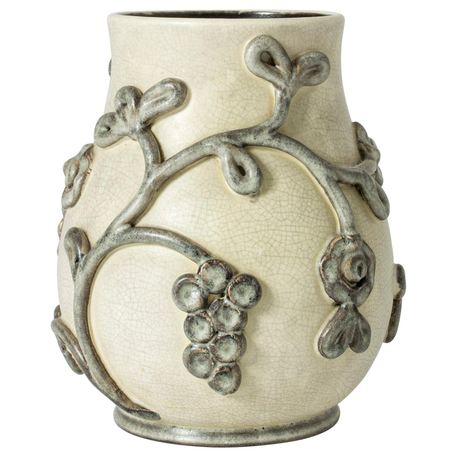 Earthenware Vase by Eva Janke-Björk for Bo Fajans, Sweden