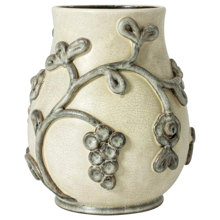 Earthenware Vase by Eva Janke-Björk for Bo Fajans, Sweden For Sale