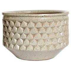 "Earthgender ""Diamond Point"" Stoneware Planter by David Cressey & Robert Maxwell"