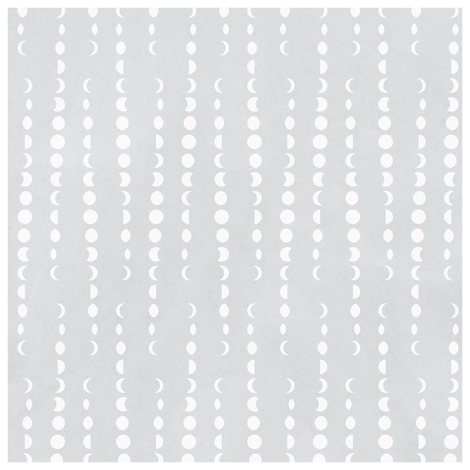 Earthlight Designer Wallpaper in Luna 'White and Pale Grey'