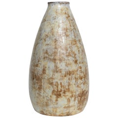 Earthy Colors Midcentury Ceramic Vase by Alexandre Kostanda
