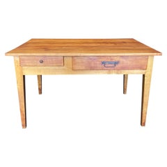 Earthy French 19th Century Natural Pine Desk